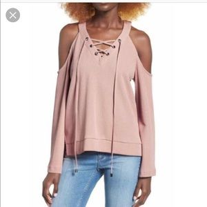 J.O.A. Tops - J.O.A. Cold Shoulder Top